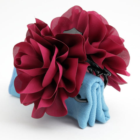 dahlia flower hair claw gift