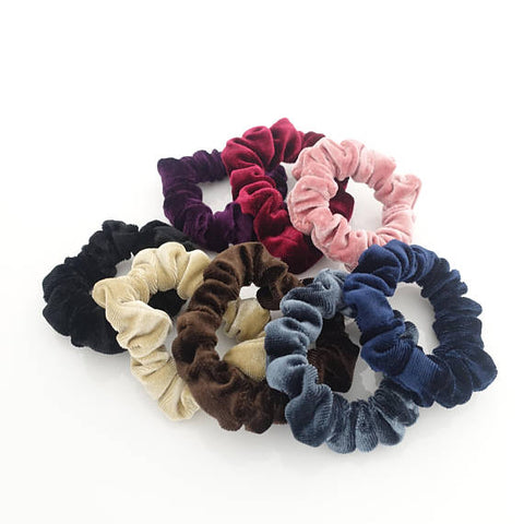 small velvet scrunchies