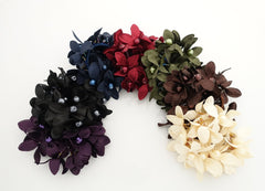 """Handmade"" scrunchies/hair holder pearl flower beaded hair elastic ponytail holder decorated elastic band hair tie scrunchies"