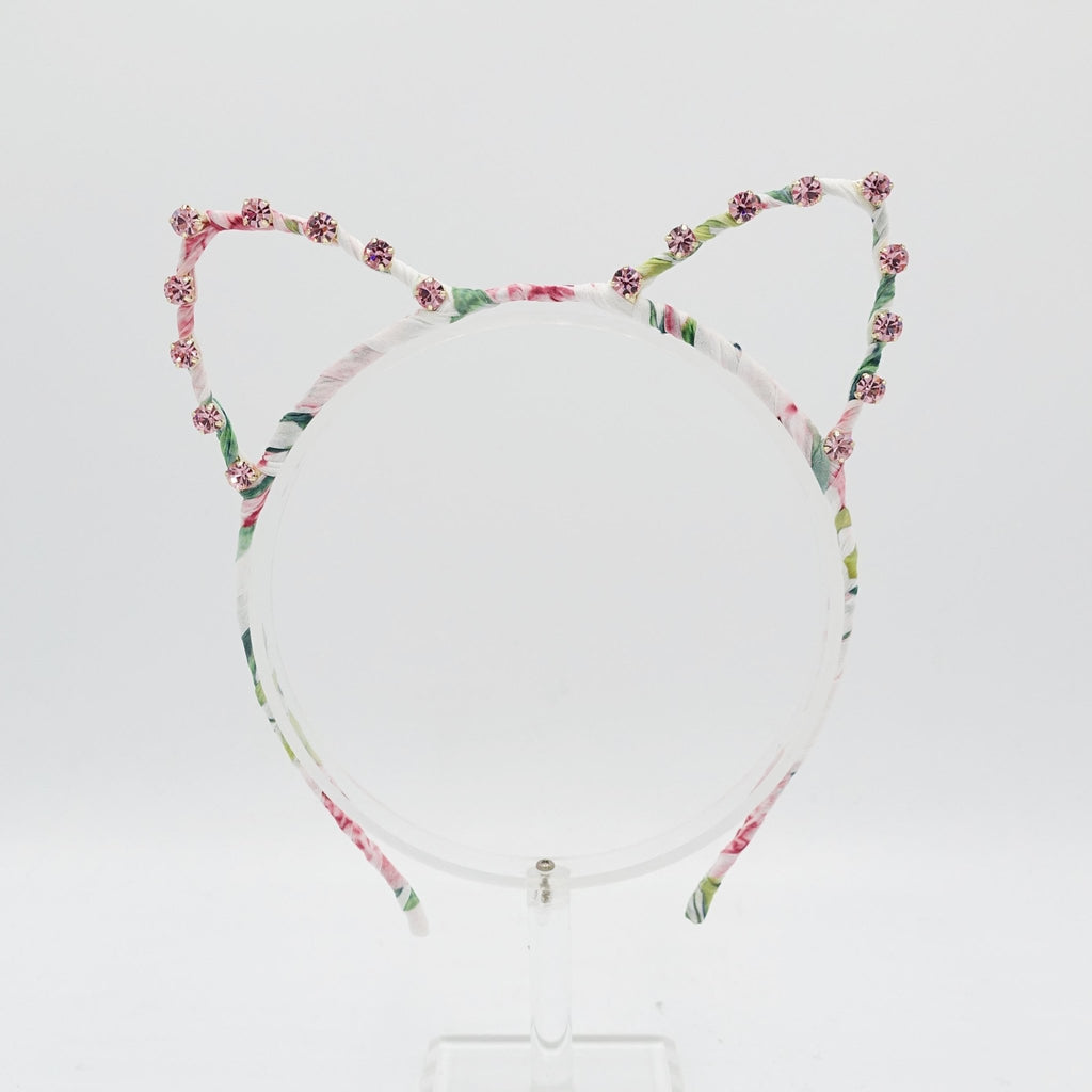 rhinestone cat ear embellished headband - veryshine.com