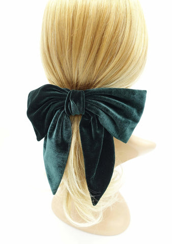 velvet hair bow pointed big bow stylish women hair accessory for women