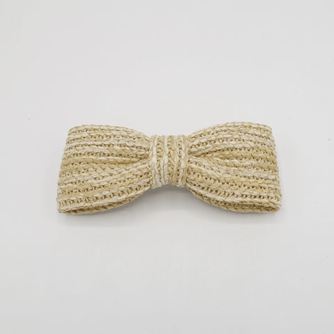 straw hair bow imitated rattan hair accessory for women