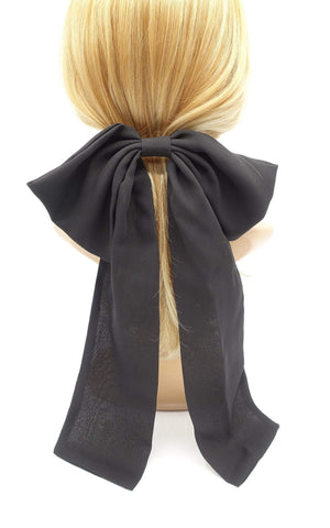 big chiffon hair bow  Goddess hair bow for women