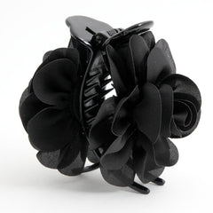 VeryShine claw/banana/barrette black Handmade 3 prong Flower Floral  Lovely Long Height Hair Jaw  Claw Clip