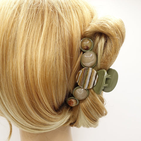 marble solid formica hair claw embellished clamp updo hair accessory for women
