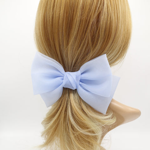organza hair bow normal size hair accessory for women