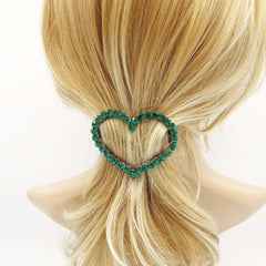 veryshine.com Barrettes & Clips Crystal Love wins always.  color rhinestone embellished  heart hair barrette woman hair accessory