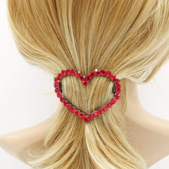 veryshine.com Barrettes & Clips Love wins always.  color rhinestone embellished  heart hair barrette woman hair accessory