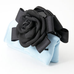 veryshine.com claw/banana/barrette black handmade camellia Flower Bow Hair Jaw Clip