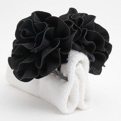 veryshine.com claw/banana/barrette Black Handmade Dahlia Embossing  Fabric Flower  Fall/Winter Hair Jaw Claw Clip Accessories