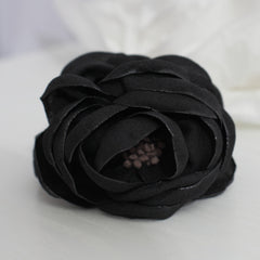 veryshine.com claw/banana/barrette Black Handmade Peony Root motivated Stamen Pistil Flower Hair Jaw Claw Clip