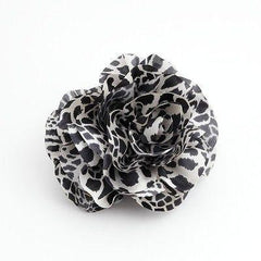 veryshine.com claw/banana/barrette Black Handmade Tiger Rose Fabric Twin Flower  Hair Jaw Claw Clip Accessories