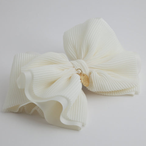 Pleat Layer Hair Bow French Hair Barrette Women Hair Accessories Big Bow hair Barrette