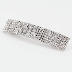 veryshine.com claw/banana/barrette Crystal Silver Diamante Cubic Rhinestone Decorative Rectangle Mini Hair Barrette Clips Gift Accessories
