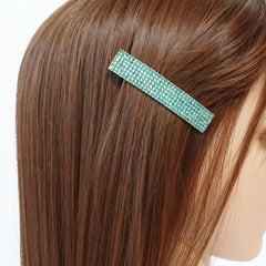 veryshine.com claw/banana/barrette Diamante Cubic Rhinestone Decorative Rectangle Mini Hair Barrette Clips Gift Accessories