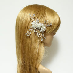 veryshine.com claw/banana/barrette faux pearl acrylic ball glass stone decorated hair clip brooch dress hair comb