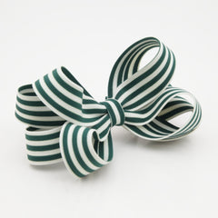 veryshine.com claw/banana/barrette Green Handmade Stripe Butterfly Loop Bow French Barrettes Women Hair Accessories