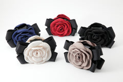 veryshine.com claw/banana/barrette handmade camellia Flower Bow Hair Jaw Clip
