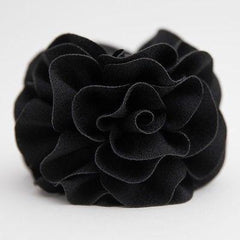 veryshine.com claw/banana/barrette Handmade Dahlia Embossing  Fabric Flower  Fall/Winter Hair Jaw Claw Clip Accessories