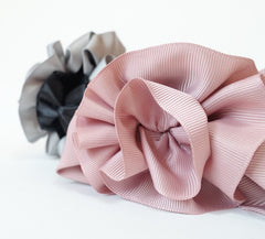 veryshine.com claw/banana/barrette Handmade Grosgrain Flower Bow Two Tone Hair Jaw Claw Clip