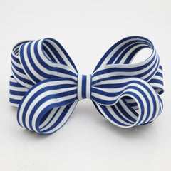 veryshine.com claw/banana/barrette Handmade Stripe Butterfly Loop Bow French Barrettes Women Hair Accessories