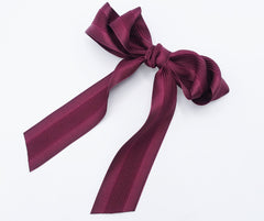 veryshine.com claw/banana/barrette long tail layered hair bow corrugated stripe bow french hair barrette