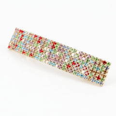 veryshine.com claw/banana/barrette Multi Random Diamante Cubic Rhinestone Decorative Rectangle Mini Hair Barrette Clips Gift Accessories