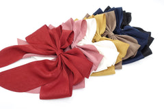 veryshine.com claw/banana/barrette multiple layered tail hair bow crinkled fabric pleated bow hair accessory for women