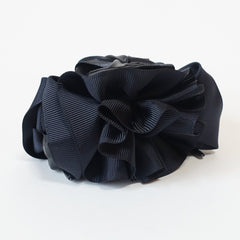 veryshine.com claw/banana/barrette Navy Handmade Grosgrain Flower Bow Two Tone Hair Jaw Claw Clip