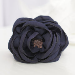 veryshine.com claw/banana/barrette Navy Handmade Peony Root motivated Stamen Pistil Flower Hair Jaw Claw Clip