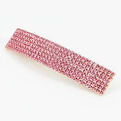 veryshine.com claw/banana/barrette Pink Diamante Cubic Rhinestone Decorative Rectangle Mini Hair Barrette Clips Gift Accessories