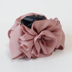 veryshine.com claw/banana/barrette Pink Handmade Grosgrain Flower Bow Two Tone Hair Jaw Claw Clip