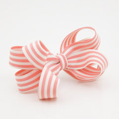 veryshine.com claw/banana/barrette Pink Handmade Stripe Butterfly Loop Bow French Barrettes Women Hair Accessories