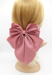veryshine.com claw/banana/barrette Pink multiple layered tail hair bow crinkled fabric pleated bow hair accessory for women