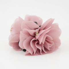 veryshine.com claw/banana/barrette Pink Pleat Petal Dahlia Flower Hair Jaw Claw