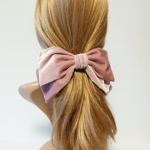 Texas velvet bow french hair barrette big hair bow accessory for women
