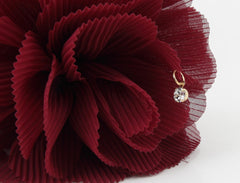veryshine.com claw/banana/barrette Pleat Petal Dahlia Flower Hair Jaw Claw