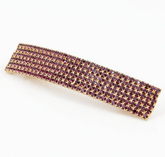 veryshine.com claw/banana/barrette Purple Diamante Cubic Rhinestone Decorative Rectangle Mini Hair Barrette Clips Gift Accessories