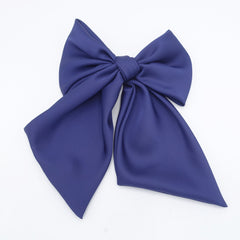 veryshine.com claw/banana/barrette satin giant hair bow french barrette wide tail oversized women hair accessory