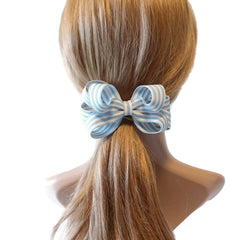 veryshine.com claw/banana/barrette Sky Handmade Stripe Butterfly Loop Bow French Barrettes Women Hair Accessories