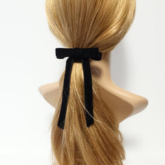 veryshine.com claw/banana/barrette Velvet bow french barrette comb hair elastic stylish black velvet hair accessory for women