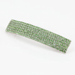 veryshine.com claw/banana/barrette Yellow Green Diamante Cubic Rhinestone Decorative Rectangle Mini Hair Barrette Clips Gift Accessories