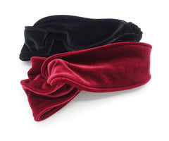 veryshine.com hairband/headband cross velvet turban headband double face velvet elastic hairband