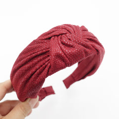 veryshine.com hairband/headband Red wine suede fabric knotted headband Fall Winter hairband women hair accessory