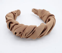veryshine.com hairband/headband satin spiral wave headband pleated wrap feminine stylish hairband women hair accessory