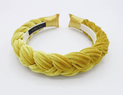veryshine.com Headband Brooklyn velvet braided headband women hair accessory