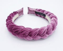 veryshine.com Headband Lavender Brooklyn velvet braided headband women hair accessory