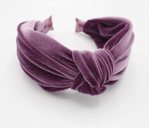 velvet knot headband basic  layered hairband women hair accessories
