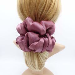 veryshine.com Scrunchie Mauve organza oversized  scrunchies big giant jumbo scrunchie clooud scrunchy women organdy hair elastic tie