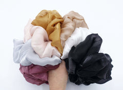 veryshine.com Scrunchie organza oversized  scrunchies big giant jumbo scrunchie clooud scrunchy women organdy hair elastic tie